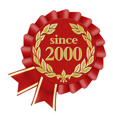 since 2000 button seal siegel jubiläum