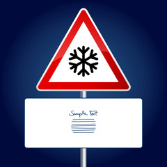 Road Sign Snowflake