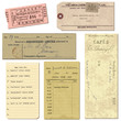 Old paper objects - vintage tickets, letters, notes - for design