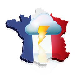 temps orageux sur la France
