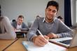 Student macht Notizen