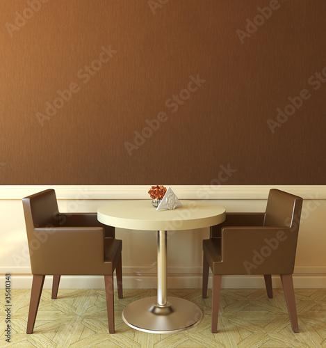 Modern coffee house interior.