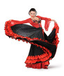 Young elegance flamenco dancer in action