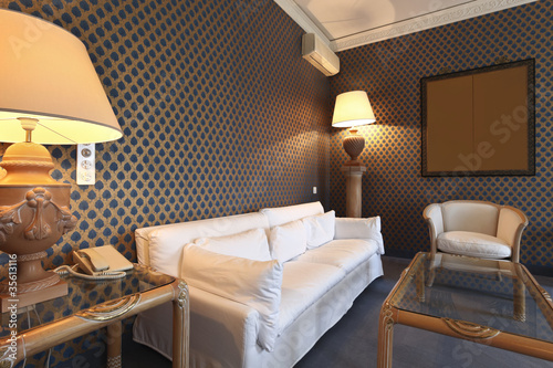 interior luxury apartment, comfortable suite, lounge