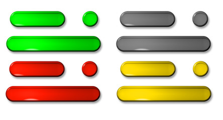 3D push button collection isolated