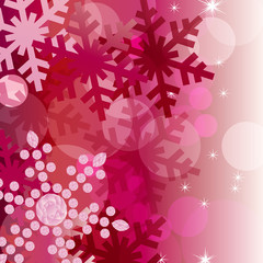 crystal decoration background red