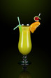 Yellow cocktail with decoration