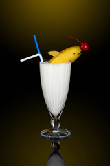 Milk shake with decoration