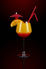 Sunrise coctail with decoration