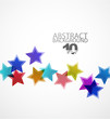 Vector abstract background. Color stars