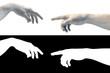 Gottes Hand und Adam in Marmor