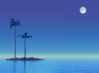 Twilight at tropical sea