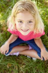Portrait of happy girl