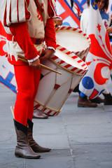 Tamburino nel corteo storico della Rufina alla festa del vino