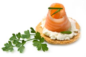 tartina al salmone affumicato