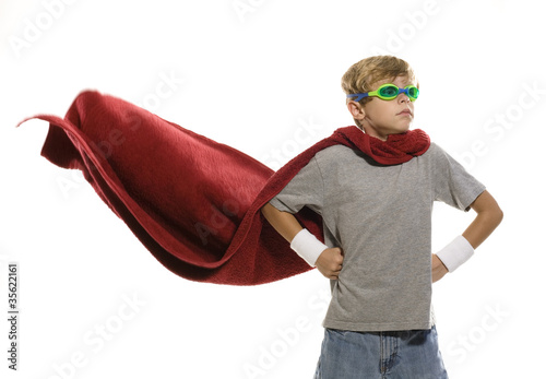 Child Dressing up as a Super Hero