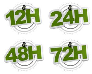 sticker livraison 48H, 24H, 12H, 72H