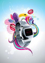vector watch color composition © chispas