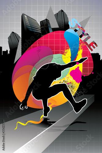 urban man vector illustration