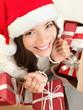 Christmas gift holiday shopping girl