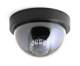 CCTV security camera isolated on white background poster