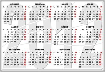 2012 Calendario-Calendar-Calendrier-2
