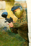 paintball player head shot