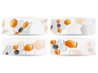Abstract Honeycomb Horizontal Banner