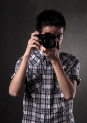 Asian Man with Camera