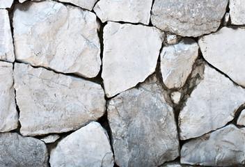 Broke rock wall