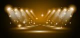 magická reflektory s zlaté paprsky