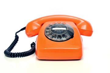 Retro Telefon Orange