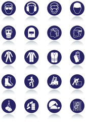 International communication signs for workplaces