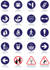 Miscellaneous international communication signs