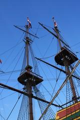 Sailboat masts and rigging