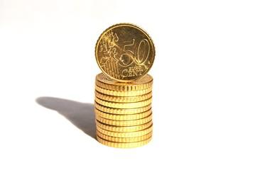 50-Cent Münzstapel