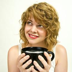 Der Milchschaum macht den Kaffeegenuss.