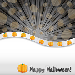 Haloween background with pumpkins