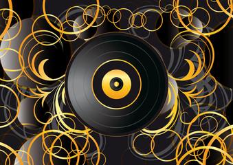 sfondo astratto disco in vinile