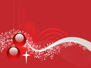 Christmas flowing background
