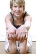 Femme yoga gymnastique