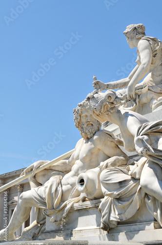 Fountain detail in Vienna, Austria