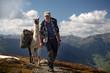 Mann mit Lama - man with llama