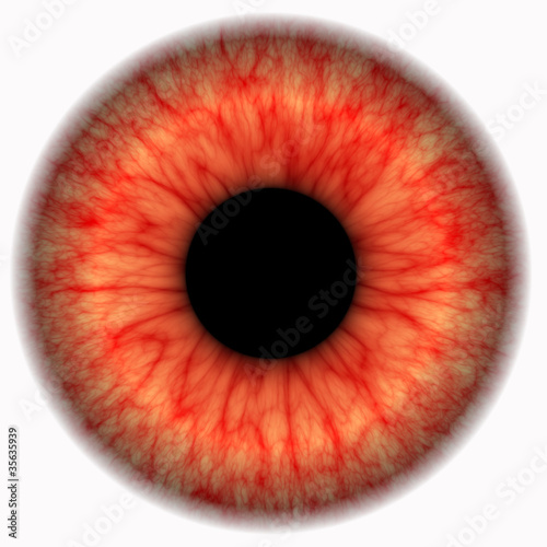 abstract eye with red threads