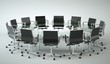 Bürodesign - Konferenztisch schwarz