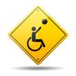 Señal amarilla baloncesto paralimpico