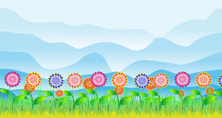 Цветущий летний луг