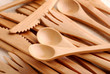 posate di bambù - tre