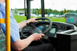 Bus driver sitting in his bus