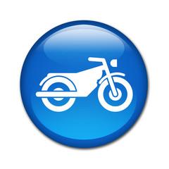 Boton brillante simbolo motocicleta